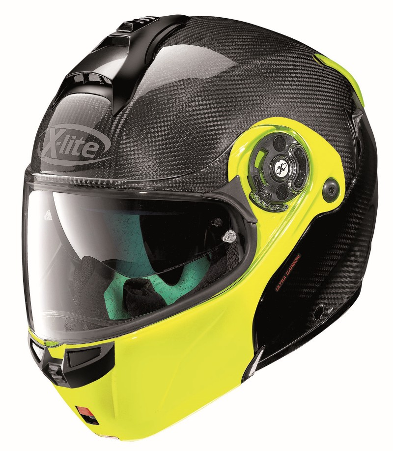 X-LITE X-1004 DYAD CARBON 004 FLUO YELLOW CHIN GUARD